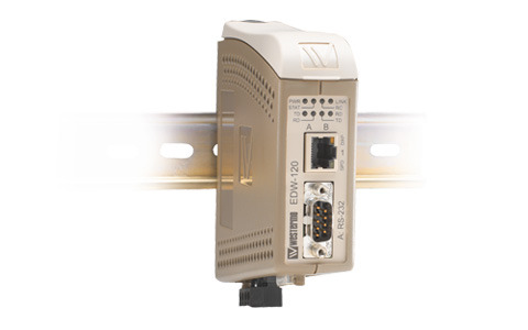 Dual port Serial to Ethernet converter designed to allow RS-232 serial devices to communicate via TCP/IP Ethernet networks.