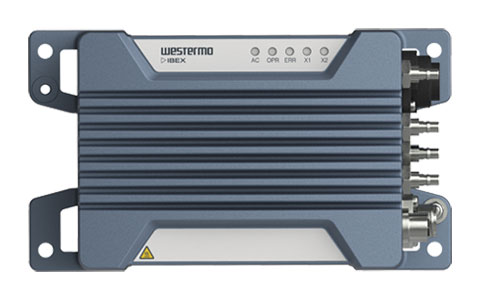 Front view of the Ibex-RT-370 WLAN Infrastructure Access Point by Westermo.