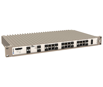 Westermo RedFox-5528-F4G-T24G-LV 19 inch Industrial Rackmount Ethernet Switch.
