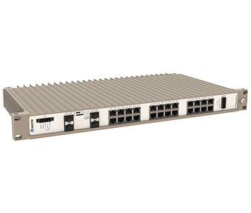 Westermo RedFox-5528-F16G-T12G-LV 19 inch Industrial Rackmount Ethernet Switch.