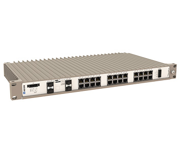 Westermo RedFox-5528-F16G-T12G-HV 19 inch Industrial Rackmount Ethernet Switch.