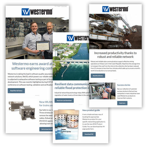 Newsletters by Westermo